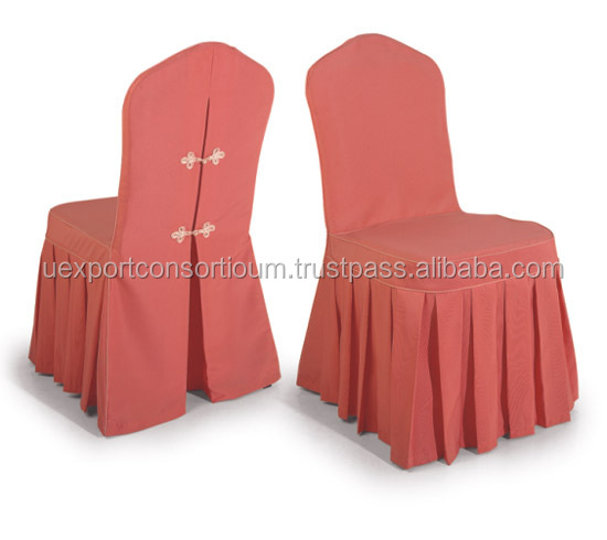 Red Color Beautiful Plain Chair Cover - Wedding Chair Cover