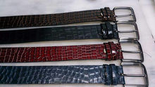 Italy Top Quality Brand Weave Leather Belt For men Trousers Belt Men
