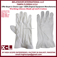 Working Cotton knitted Gloves for Parade , For cooking for Inspection