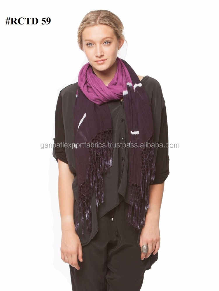 All New Fashionable Women's Tie & Dye Neck Scarf Scarves For All Seasons