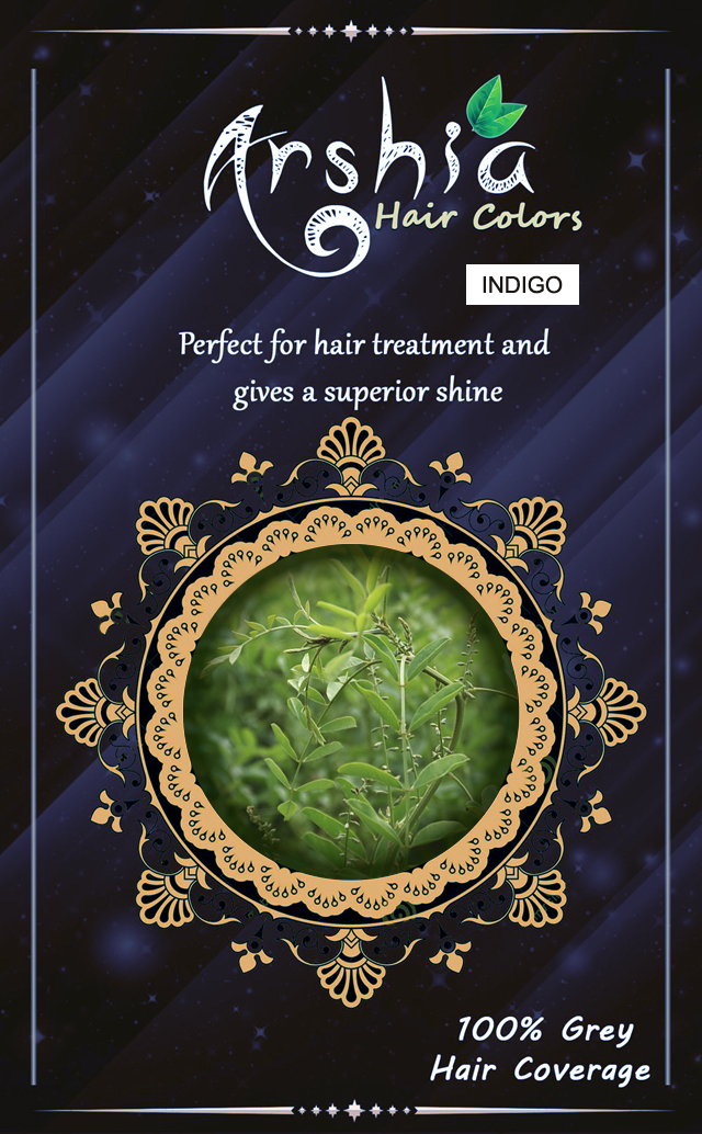 100% Pure Indigo Leaf Powder For Hair Coloring