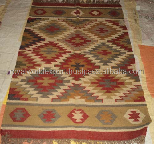 Stylish Design Hot Sale Wholesale Indian Home Decor Hand Woven Cotton Kilim Turkish Style Rugs/ Vintage Rugs/Floor Durries