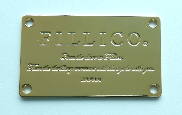 Fashion Handags And Wallets High Polished Gold Metal Logo Plate