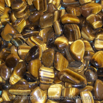 Golden Tiger Eye Tumbled Stone for healing, meditation and decoration
