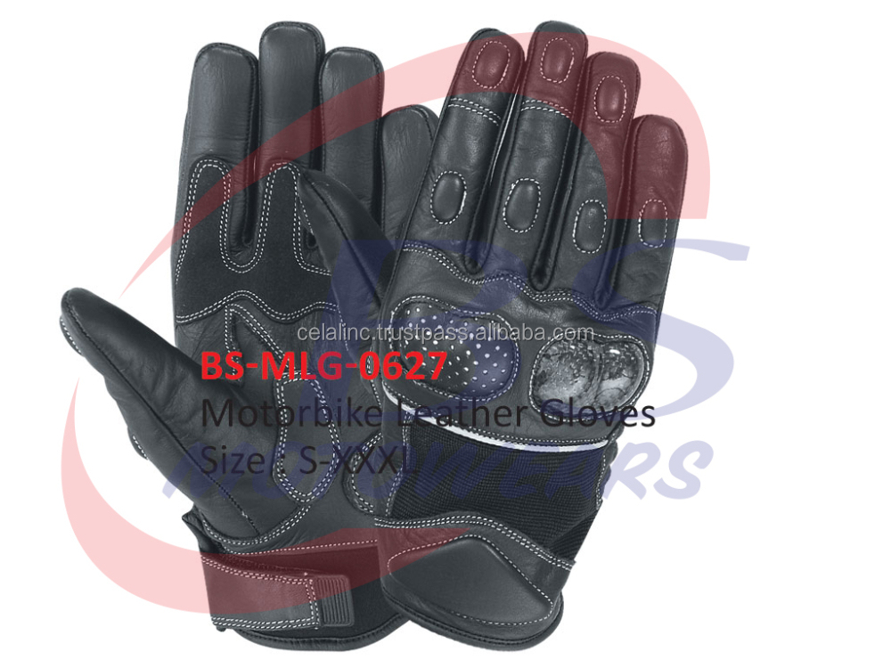 High Quality Cowhide Leather Motorbike Gloves, Professional Gloves, Heavy Bike Gloves