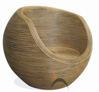 Round Rattan Wicker Indoor Outdoor Chair