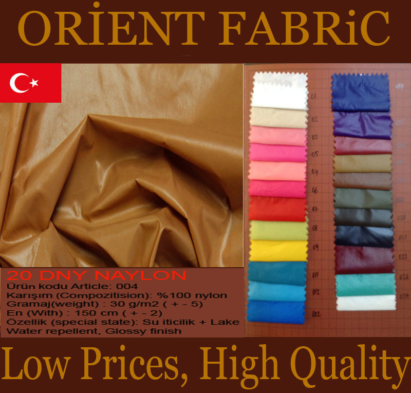 Glossy Nylon fabric for jacket from Turkey manufactures