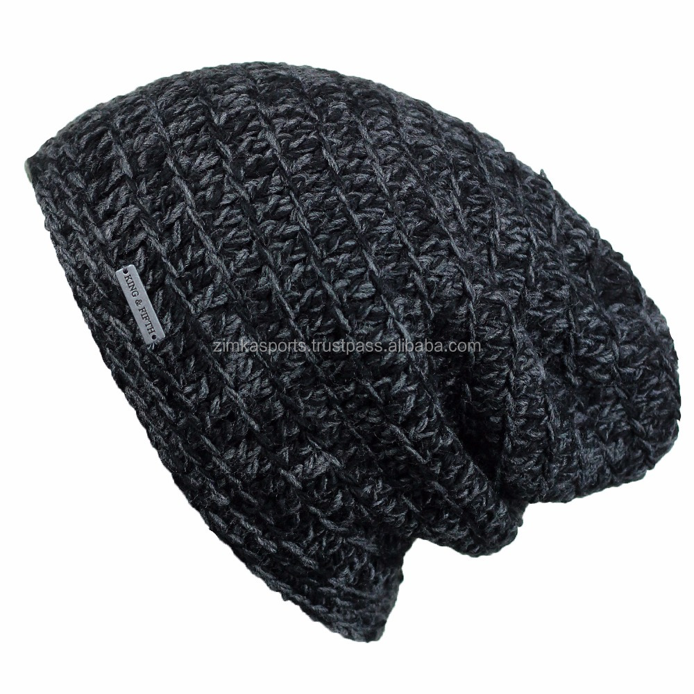 custom made beanie dark color beanie without pom pom