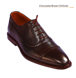 Chocolate Brown Leather Oxfords