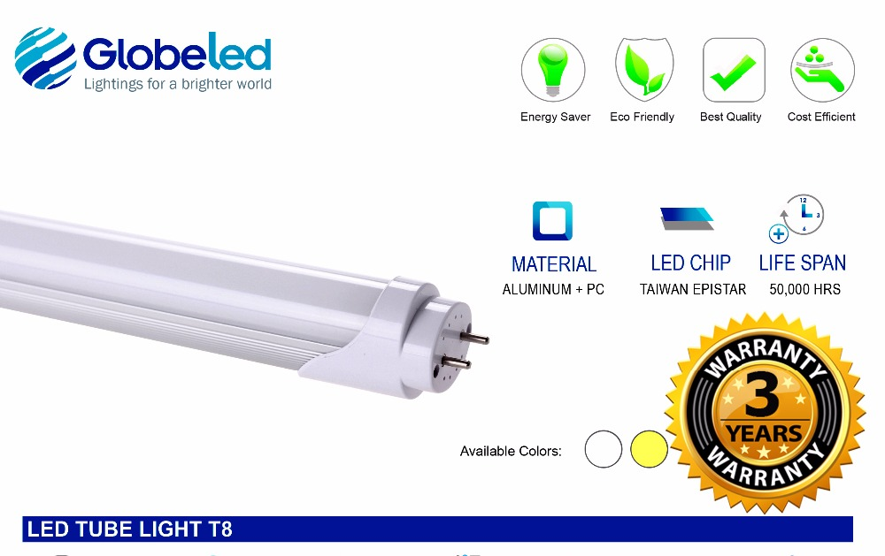 T8 LED Tubelights 18W Manila T8 LED Tube Light T8 20W Manila LED Tube Light 16W LED Tube Lighting Supplier Philippines
