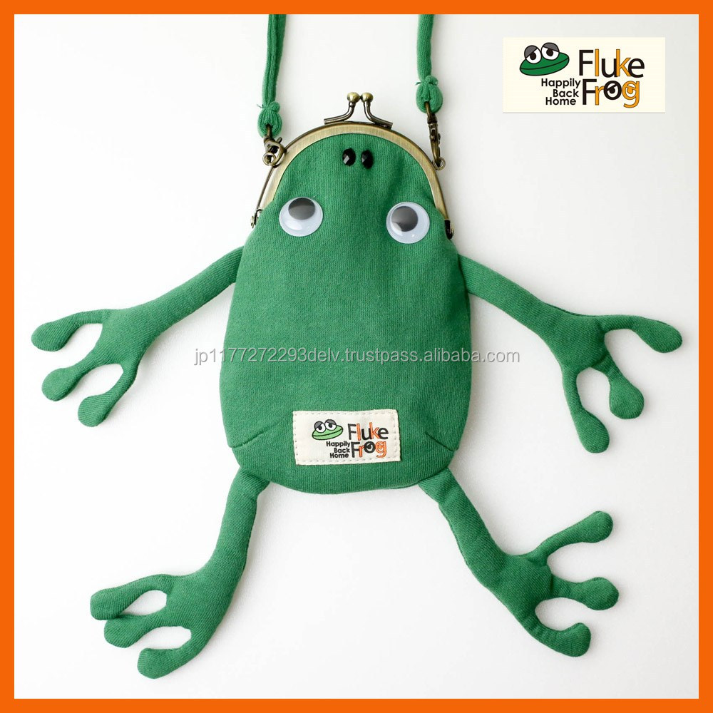 Japanese cute frog wallet case with arms and legs for women