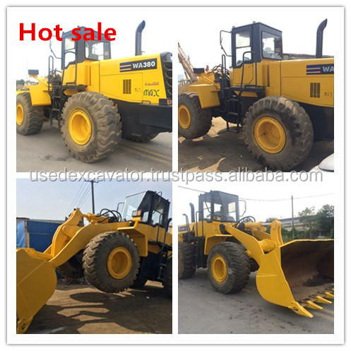 Komatsu WA380-3 Wheel loader with good color, used Komatsu loader, Komatsu loaders WA320-5, also CAT 980G, 950E, 980H for sale