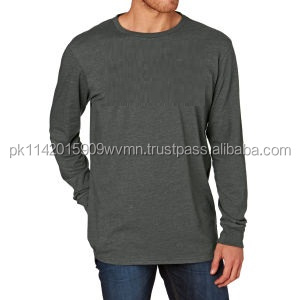 Men grey long sleeve t shirts plain