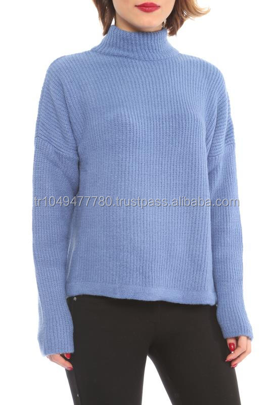 New Arrival Knitted Turtleneck Women Sweater