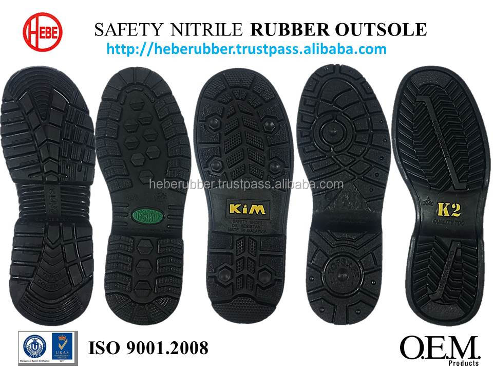 High Quality Oil Resistant NBR Safety Rubber Outsole