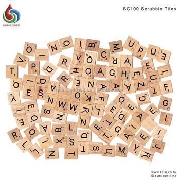 Custom Wooden Scrabble Tiles