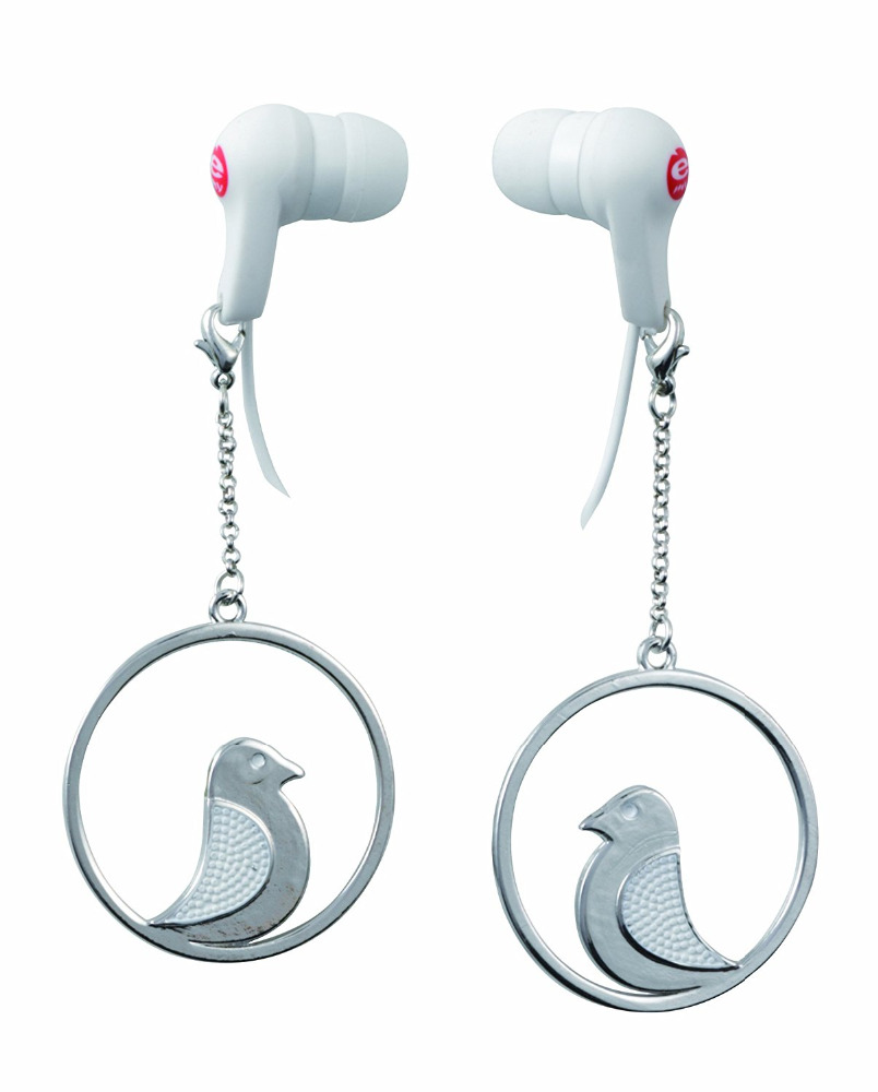 Earphones and Earrings Bijoux Finchy mobile phone or mp3