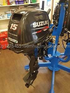 Free Shipping For Used Suzuki 15 HP 4 Stroke Outboard Motor Engine