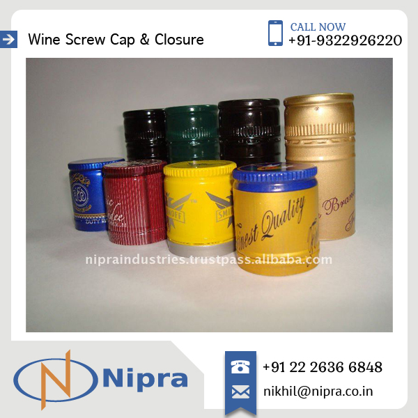 Aluminium Liquor Screw Caps Available at Reliable Price