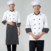 Hot sale classic durable hotel and restaurant kitchen executive chef uniform