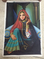 Best Sale And low Price Products Indian Women Handmade Oil Painting