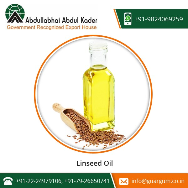 100% Pure Dried Ripe Seeds Extracted Linseed Oil at Wholesale Price