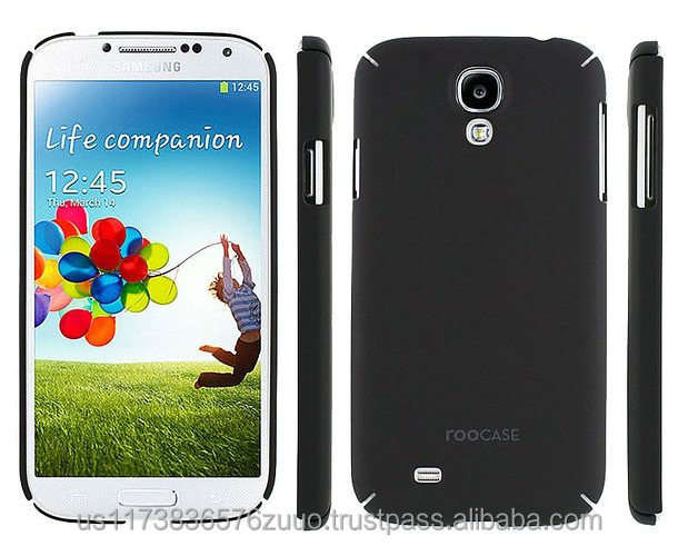 Ultra slim shell case with polyurethane matte coating for Galaxy S4 roocase (Black)
