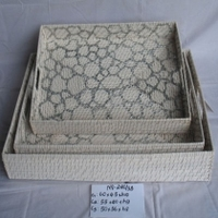 Rattan tray handicraft set with handle Viet Nam Ha Noi