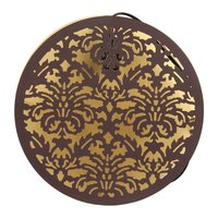 Decoratively Designed Circular Home Decor Brown Wall Lamp