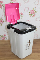 24 liter plastic hand press non pedal eco dustbin sale with good quality. 5% OFF IF BUY TODAY !