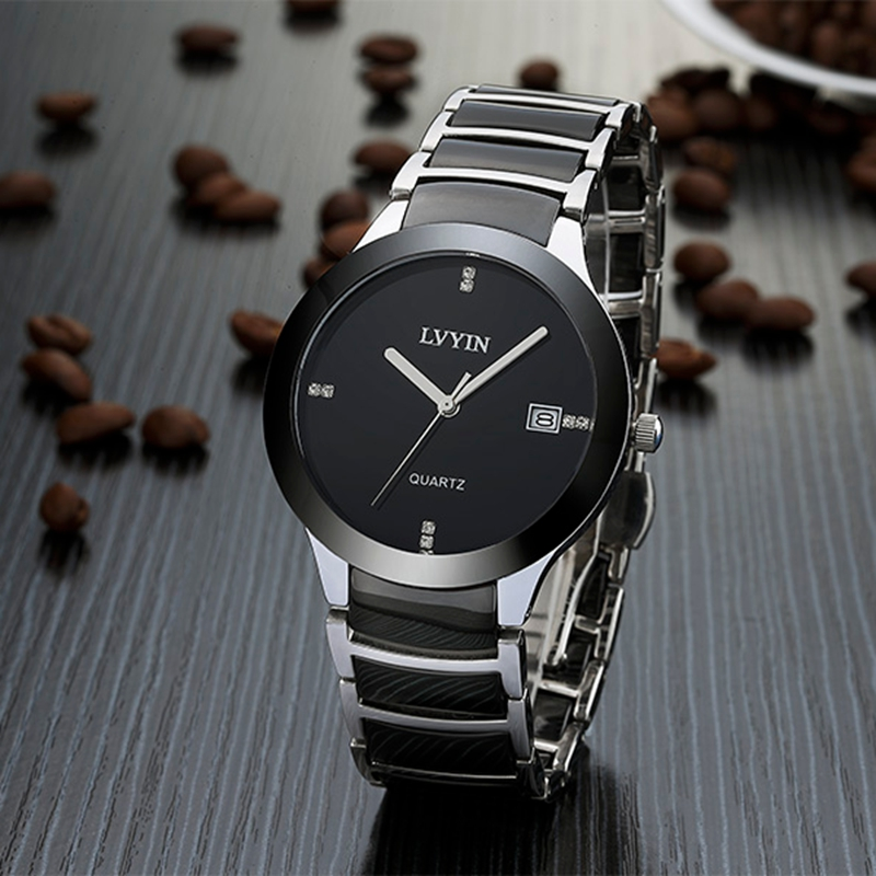 Sample-1 2016 China factory wholesale high quality ceramic watch fashion mens stainless steel watch