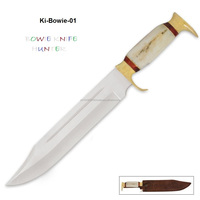 Swamp Gator Hunter Bowie Knife & Leather Sheath