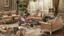 Decoration furniture sets Carved wooden luxury french baroque living room sofa set