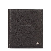 Genuine Leather Black-Brown-Red RFID Blocking Wallet For Men