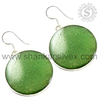 Wholesale 925 Sterling Green Zed Silver Gemstone Earring Beautiful Handmade Best Collection Of Jewelry ERCB2065-4
