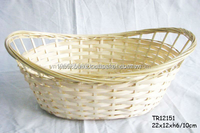 Bamboo Basket Oval Storage Food/Fuit Cheap