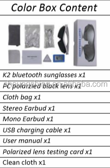 UV protect listen music phone call all in one polarized bluetooth sunglasses