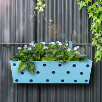 Powder Coated Metal Iron Planters Polka