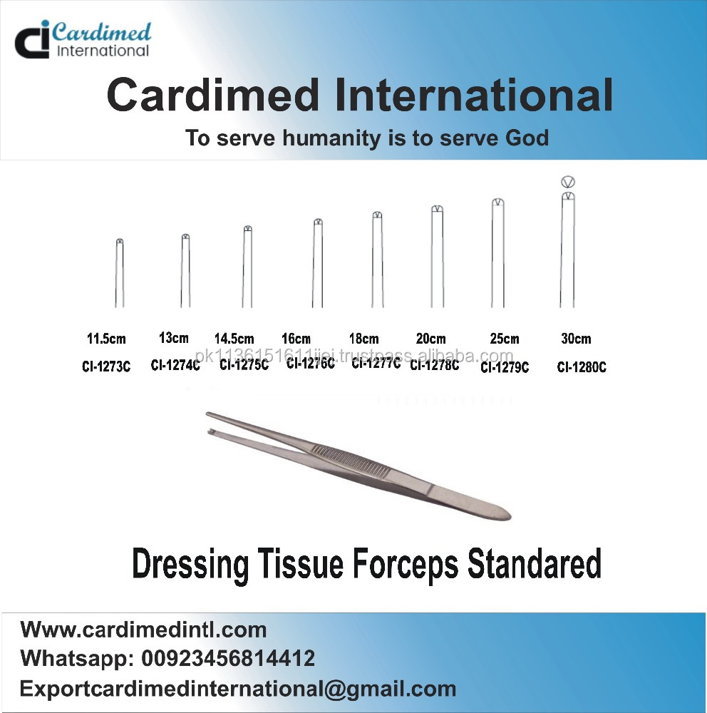 Dressing Tissue Forceps Standared 16cm/ Surgical Instruments