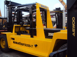 Japan original used forklift 20ton FD200, old/half new komatsu forklift 20ton for sale!