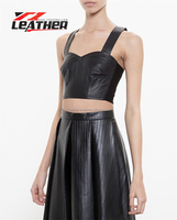 summer cheap wholesale black matte faux leather tank top PU leather tank tops hiphop vest man tank top