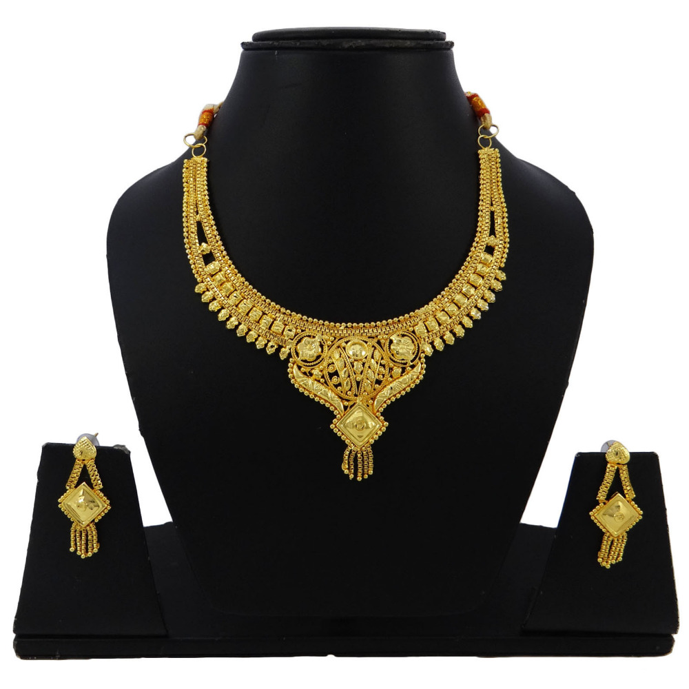 Ethnic Necklace Set Goldplated Traditional Indian Bollywood Wedding Jewelry BNG2521A