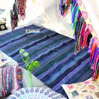 Wholesale Lots Cheap hand loomed Rugs Affordable Mats Chindi Unique Bedroom Decorative Dari