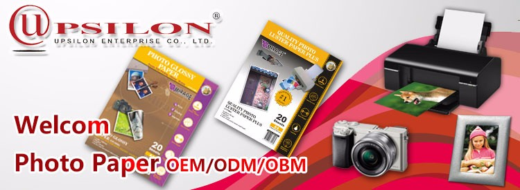 Good Absorbency Resin Coated Instant Print Glossy Photo Paper