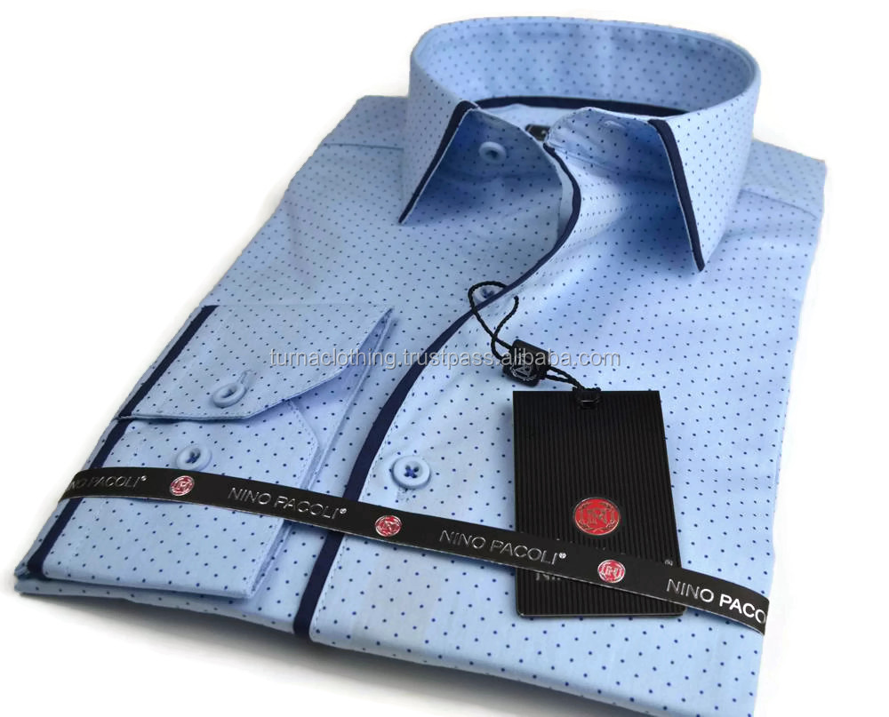 Man Shirt For 2016 New Design Cotton Slim Fit Men Casual Shirt from turkey factory