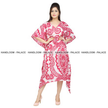 Women's Casual Wear Summer Seasonable Kaftan 100%Cotton Plus Size Hand Made Long Maxi Dress Tunic Style Sexy Kaftan