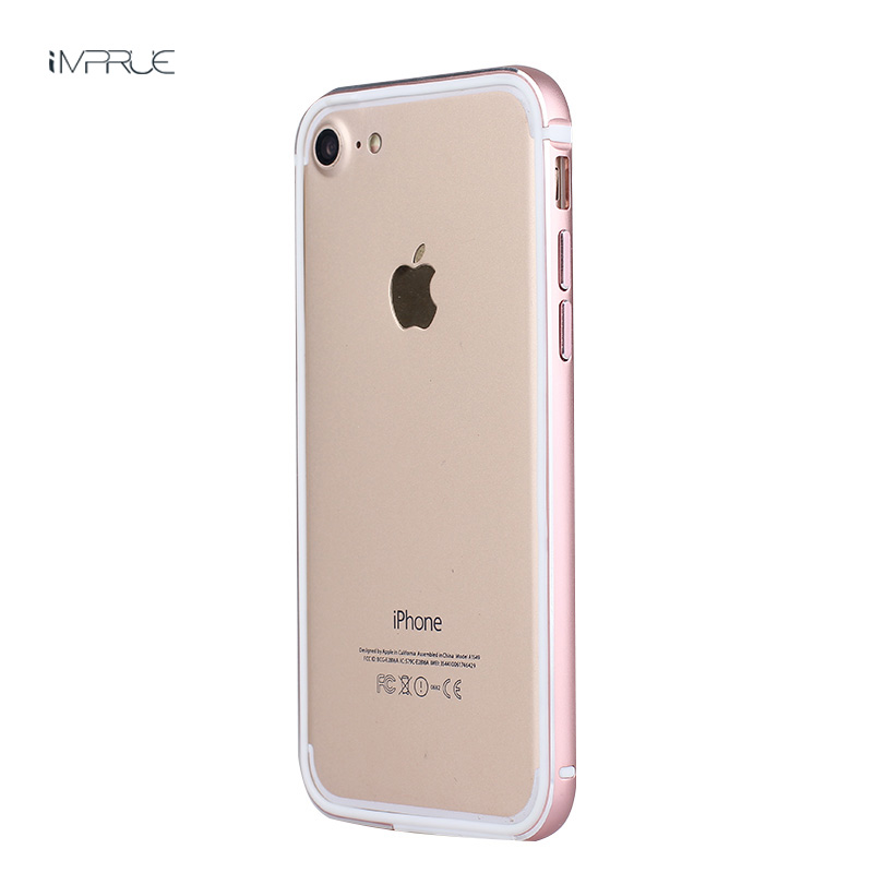 Luxury Hybird aluminum metal frame Soft side Bumper back cover phone case for iphone7/7plus