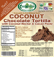 Baked & Non GMO COCONUT CHOCOLATE TORTILLA CHIPS, 100& Natural