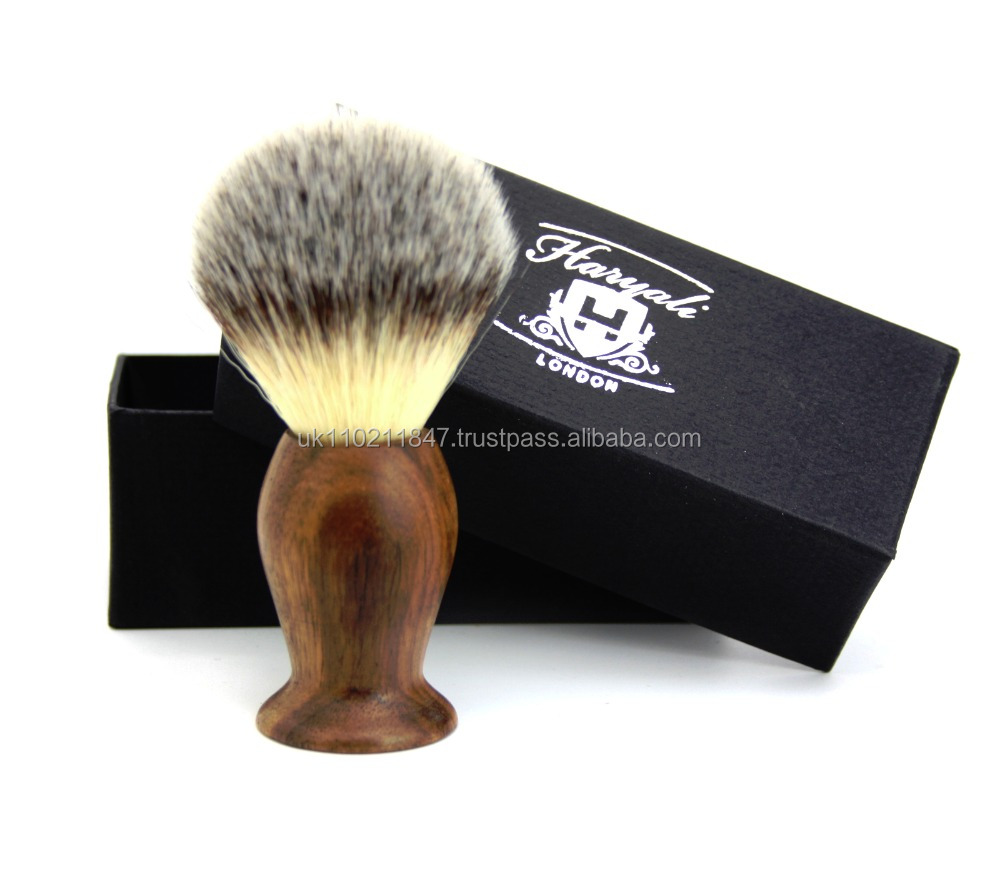 Badger Silver tip Hair look synthetic hair shaving brush
