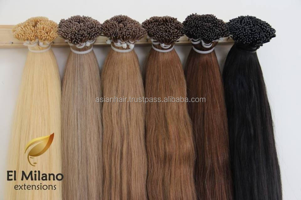The Best Wholesale Products Unprocessed Natural Looking 100% Remy 35 colors Prebonded Natural Human Hair